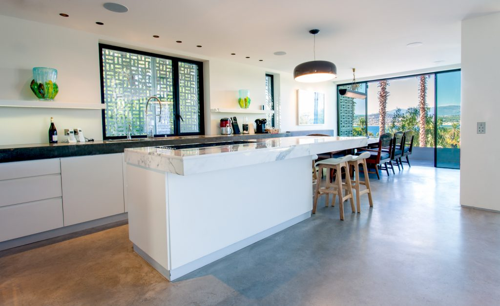 Large Villa Open Kitchen and Balcony