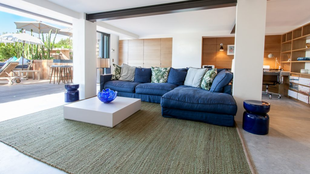 Large LLiving Room with Sliding Doors to Patio