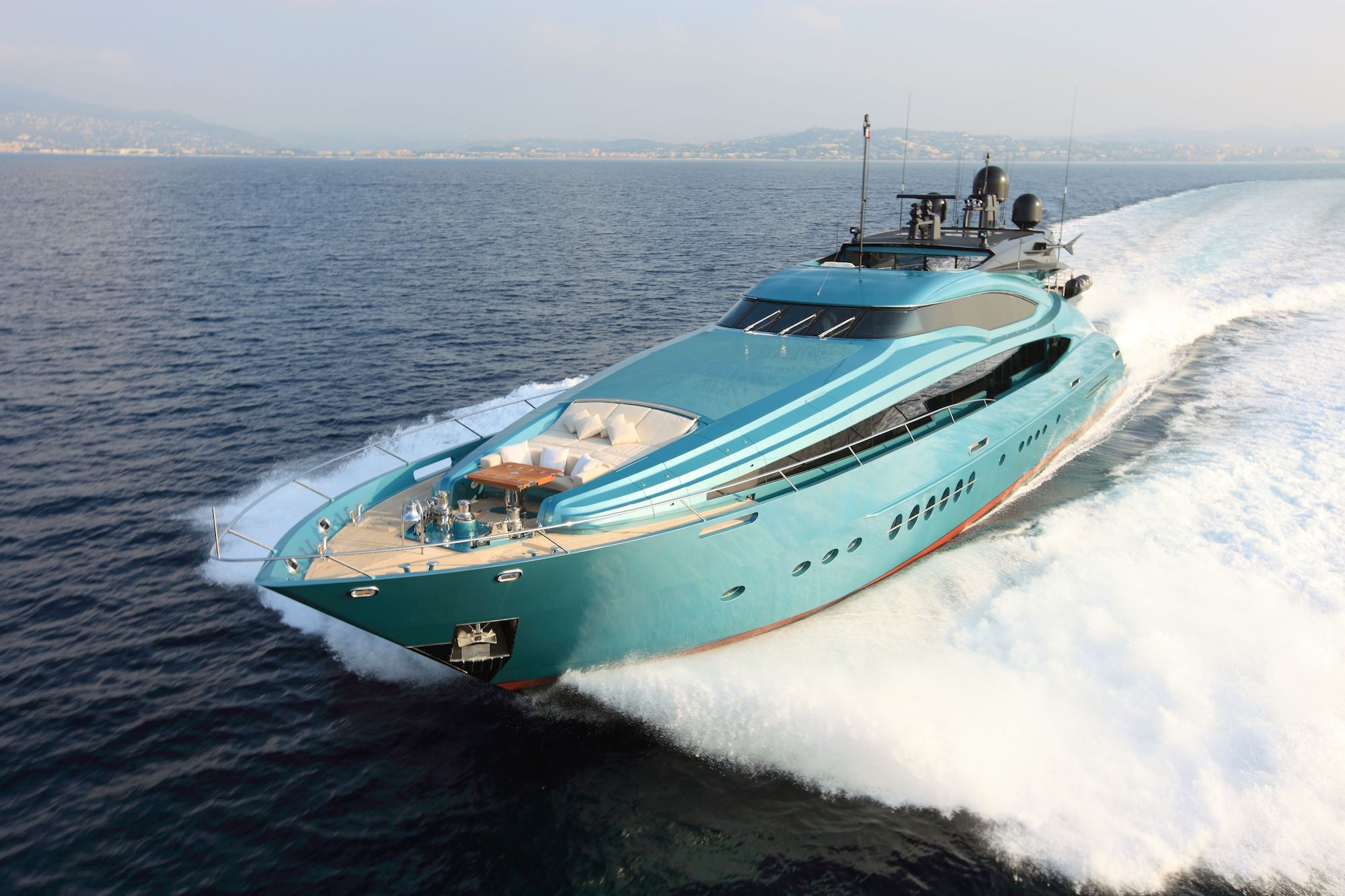 Large Ice Blue Yacht