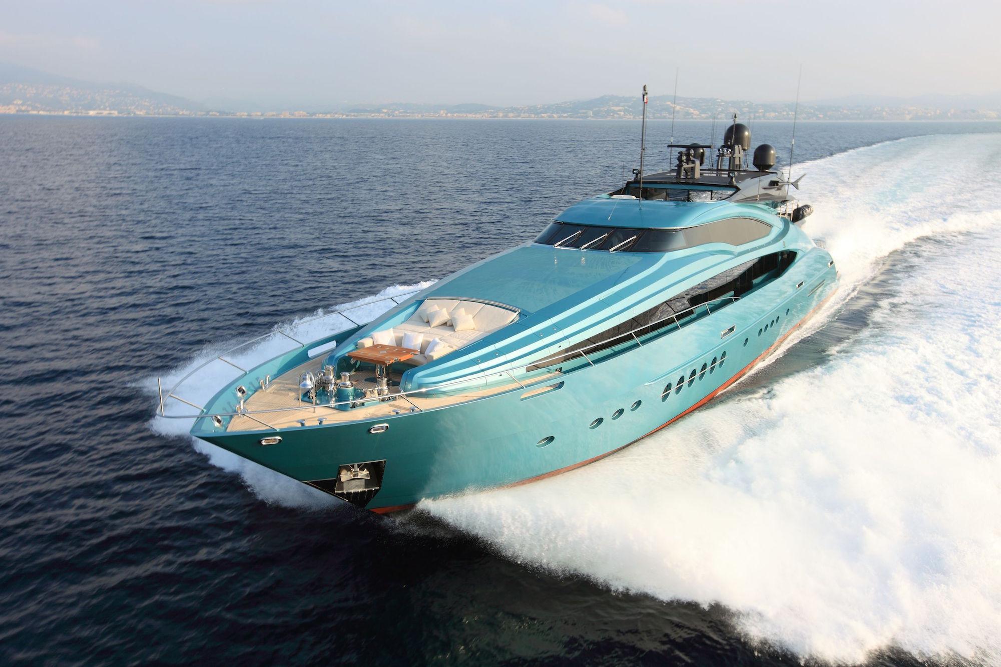 Large Ice Blue Yacht