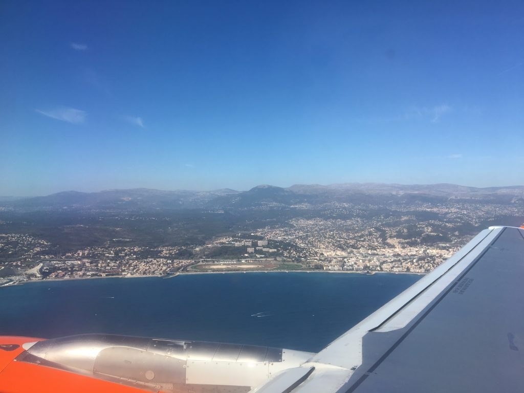 South of France view from Airplane